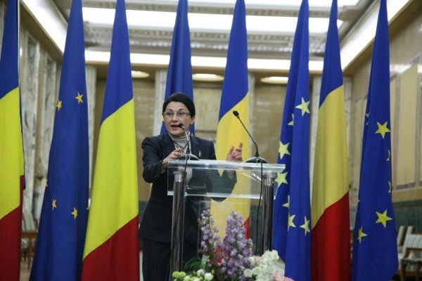 Romanian Minister of Education Ecaterina Andronescu