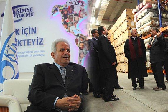 Nebil Maruf, Palestinian Ambassador to Ankara, visits Kimse Yok Mu headquarters.