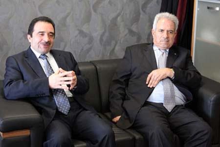 Palestinian Ambassador to Ankara Nebil Maruf visited Kimse Yok Mu and met with the president Unal Ozturk.