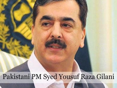 Pakistani PM Syed Yousuf Raza Gilani