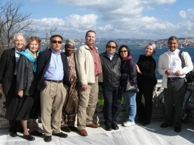 NIC Delegation to Turkey: (LtoR ) Ed Hiestand, Nancy Hiestand,  K.P. Chung, Amos Oladipo, Sherif Soyan,  Bishop Jung, Im Jung, Catiana McKay, David Lagos-Fonseca.