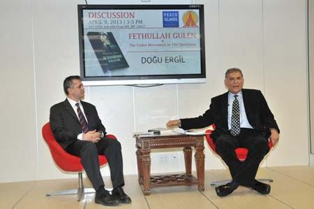 Prof. Dogu Ergil (R) authored a book on Gulen
