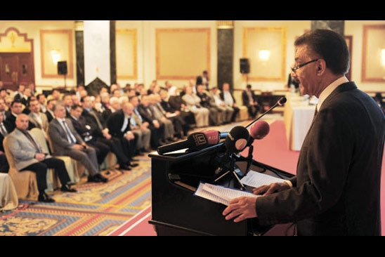 UN Resident Coordinator in Turkey Shahid Najam was one of the speakers at Thursday's Journalists and Writers Foundation (GYV) conference in İstanbul. (Photo: Today's Zaman)