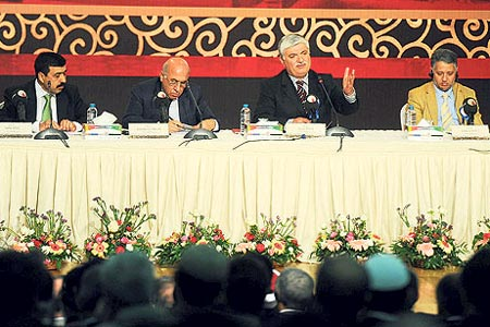 Prominent religious scholars from 60 countries discussed possible ways, by a close examination of Prophet Muhammad's methods, to find solutions to today's problems during a two-day symposium in Gaziantep over the weekend. (Photo: Today's Zaman)