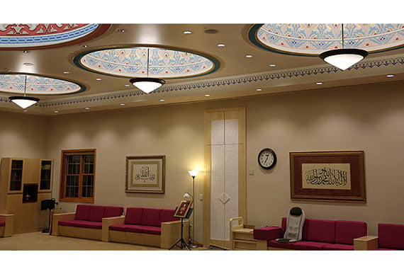 A room for religious and social activities in a social facility run by the Golden Generation Worship & Retreat Center in Pennsylvania. (Photo: CİHAN)