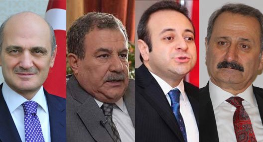Turkish ministers, whose sons were detained as part of the corruption probe.