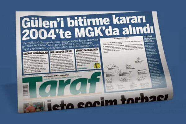 Taraf daily published NSC document revealing secret plot against Gülen. (Photo: Today's Zaman)