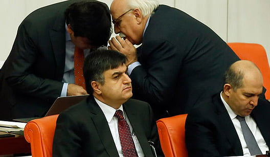 Yusuf Tekin, the undersecretary of the Ministry of Education, is seen attending a parliamentary session. (Photo: Today's Zaman, Mustafa Kirazlı)