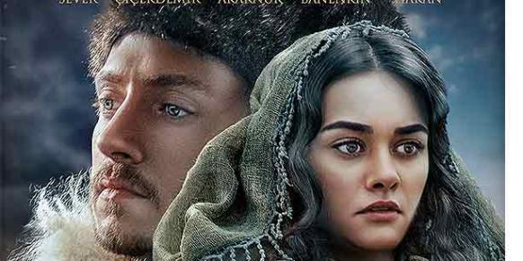 """The poster of the """"Birleşen Gönüller"""" (The Converging Hearts), a movie that was released to Turkish audiences on Friday."""