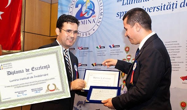 Turkish schools which have been operating in Romania for 20 years, were awarded with a certificate of excellence by Romanian Education Minister Remus Pricopie.