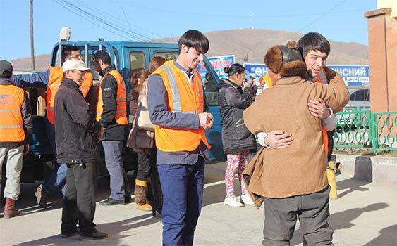 Kimse Yok Mu distributes heating stoves in Mongolia
