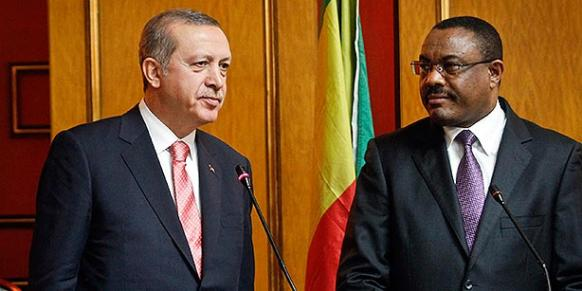 Turkish President Recep Tayyip Erdoğan and Ethiopia's Prime Minister Hailemariam Desalegn speak to the media after a bilateral meeting in Addis Ababa. (Photo: AP)