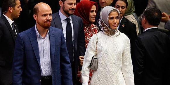 President Recep Tayyip Erdoğan's daughter Sümeyye Erdoğan (C) and her brother Bilal Erdoğan (L) are seen during a meeting in Ankara on July 1, 2014. (Photo: Reuters)