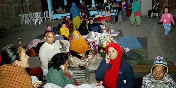 The Turkish Meridian schools in Nepal have offered shelter to the victims of last Saturday's devastating earthquake. (Photo: Cihan, Atıf Ala)
