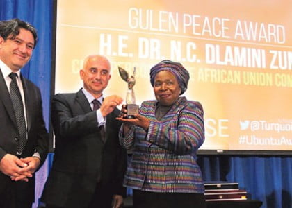 African Union Commission chair receives Gülen peace award