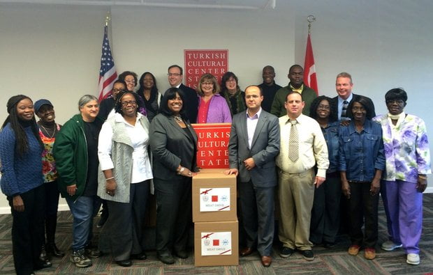 The Turkish Cultural Center Staten Island and Embrace Relief joined Councilwoman Debi Rose and Staten Island food pantries for a Feast of Sacrifice meat drive on Nov. 17, 2015. (Courtesy of Councilwoman Debi Rose's Office)