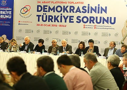 'Democracy's Challenge with Turkey' debated in Abant Platform