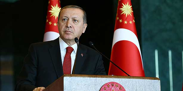 President Recep Tayyip Erdoğan speaks at a conference of ambassadors in Ankara on Tuesday. (Photo: DHA)
