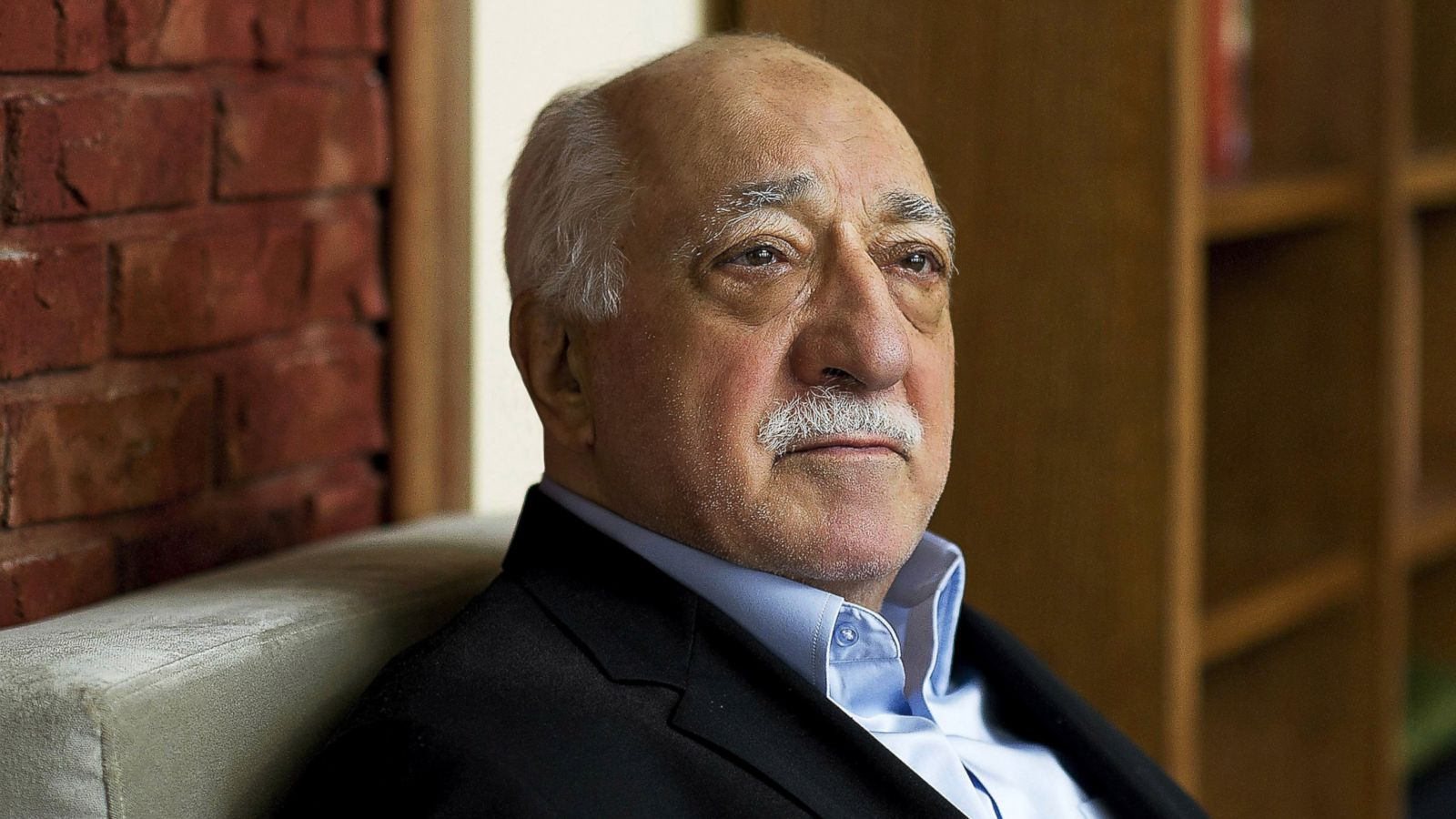 Turkish Islamic preacher Fethullah Gulen is pictured at his residence in Saylorsburg, Pa. Gulen is charged in Turkey with plotting to overthrow the government in a case his supporters call politically motivated. (AP Photo/Selahattin Sevi)