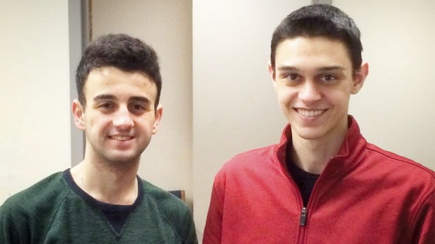 Hamil Keskin and David Edelstein bonded through an interfaith program. (Quentin Rosso)