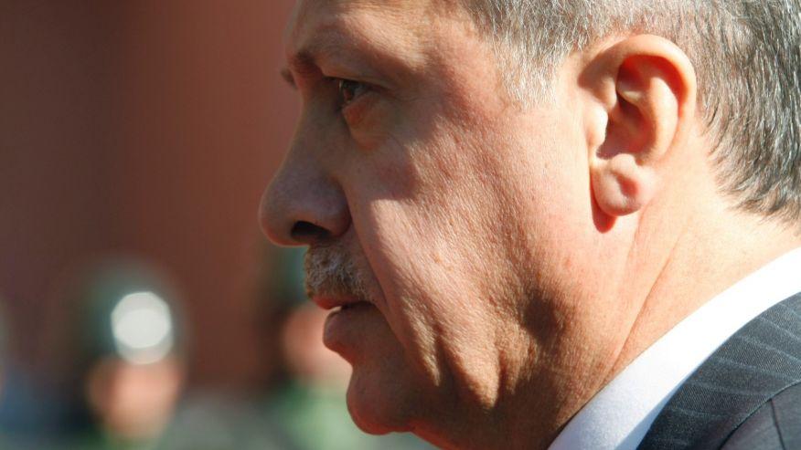 September 8, 2015: Turkish Prime Minister Recep Tayyip Erdogan walks before a ceremony outside his office in Ankara, Turkey. (AP)