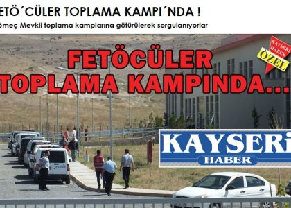 Pro-gov't daily proudly announces Gulenists put in 'concentration camp'