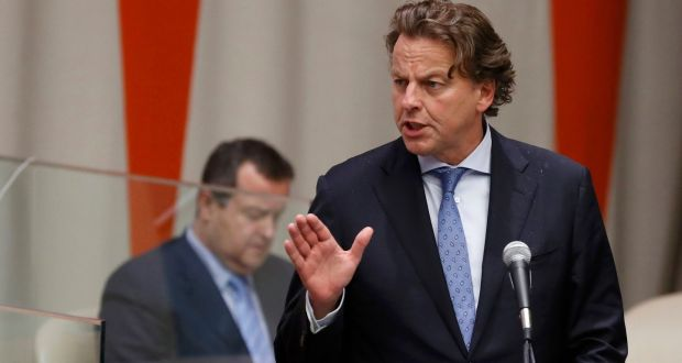 """Dutch foreign minister Bert Koenders: """"The Netherlands deals with Dutch society and that has nothing to do with the Turkish government."""" Photograph: Lucas Jackson/Reuters"""
