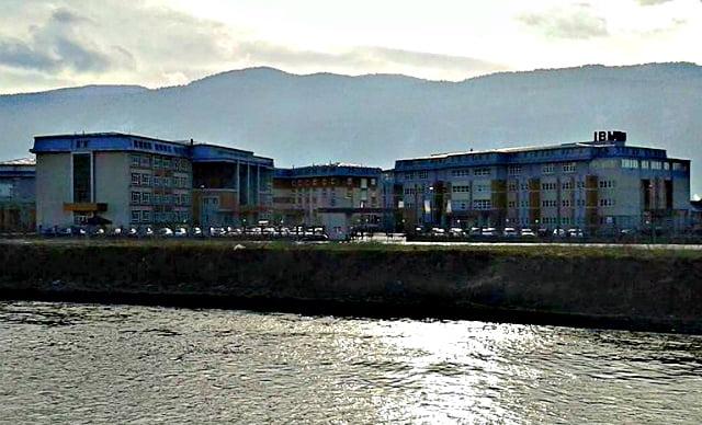 The International Burch University seen from across the river. Photo: Munja and Alen Huskic/Wikimedia.