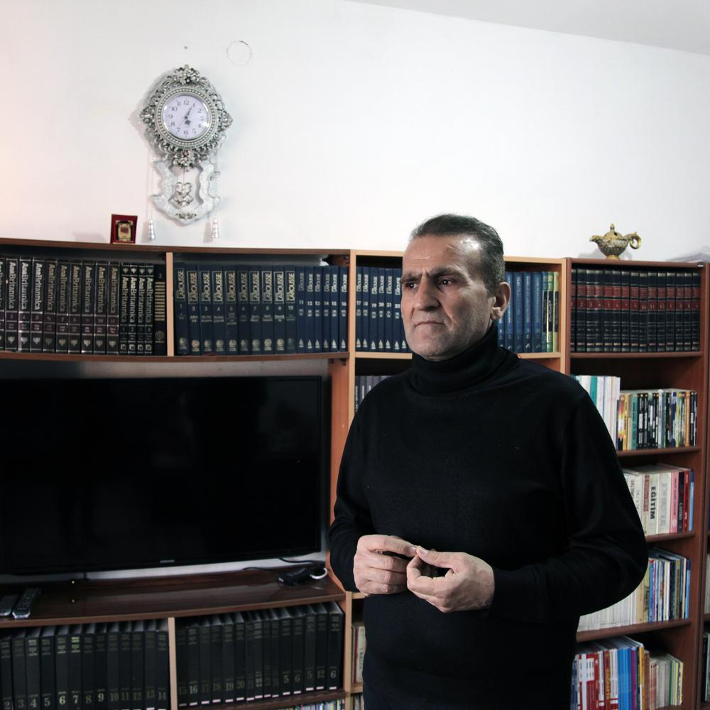 Ramazan Turan, 52 years old, who spent his career writing teaching manuals but has now been purged from his job as a primary school teacher. He, like dozens of other teachers in Konya, has not been informed of his alleged crime. Konya, Turkey. November 5, 2016. CREDIT: Rena Effendi for the Wall Street Journal