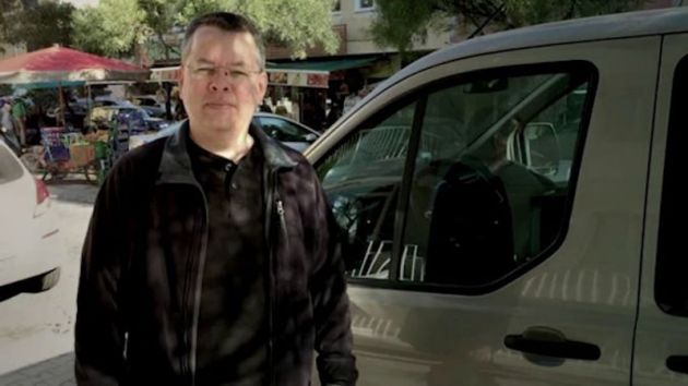 Pastor Andrew Brunson appears in a screen capture of a video from the YouTube channel of the American Center for Law and Justice.